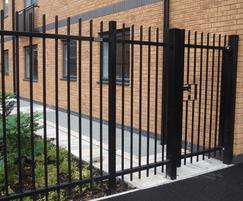 Single-leaf alley gate