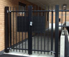 Vertical bar alley gates
