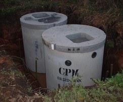 CPM rainwater harvesting system in situ