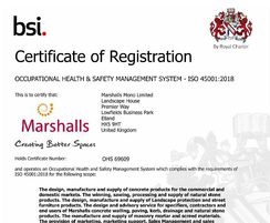 Marshalls CPM: Marshalls CPM ISO 45001 and ISO 14001 recognised