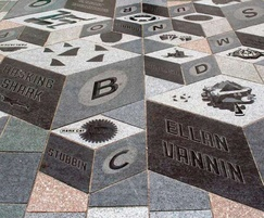 Waterjet cut granite for Isle of Man paving scheme