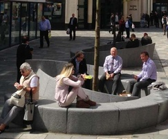 Granite benches on Regent street