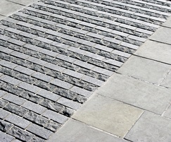 Granite setts, cropped and flamed
