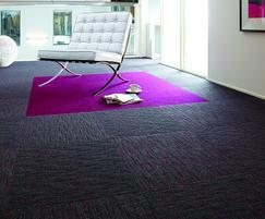 Array Fuchsia and Broadrib Fuchsia carpet tiles