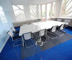 Portland House - Array and Broadrib Blue carpet tiles