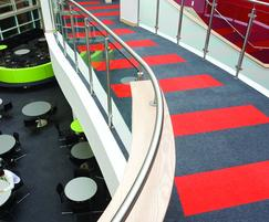 Supacord fibre-bonded carpet in school