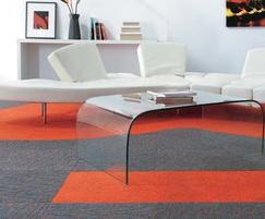 Array Copper and Broadrib Orange carpet tiles