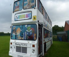 Double decker bus for school library