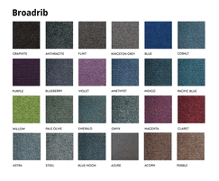Broadrib Carpet tiles are available in 24 colours