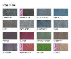 Iron Duke Range is available in 16 colours