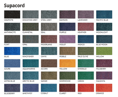 Supacord Carpets are available in 42 colours
