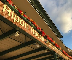 Self-watering window box planters at Ripon Racecourse