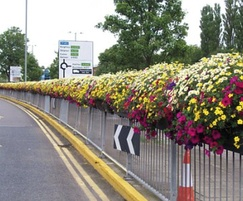 Full Barrier Basket planter on railings