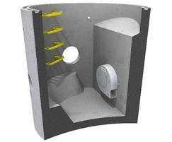 Chamber option-supplied installed in a concrete chamber