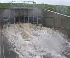 White Cart Flood Alleviation Scheme in action