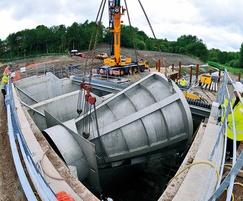 Hydro-Brake Flood flow control installation - Wigan