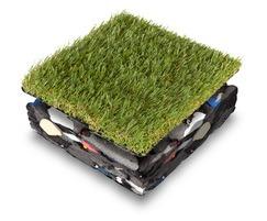 Shock Pad Underlay is installed under artificial grass