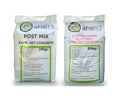 Post mix concrete for setting fence posts and bollards