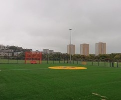 Synthetic surfacing for community sports facility