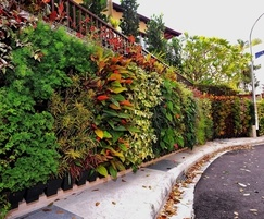 Outdoor green wall using VersiWall GP system