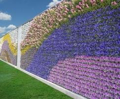 Pixel-Garden flower wall system