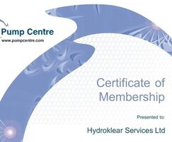 Hydroklear Services: Hydroklear becomes a member of the Pump Centre