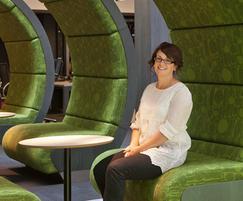 Design winner Miriam Trent with Binary Plus fabric