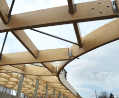 Engineered LVL timber beams