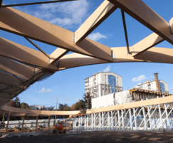 Kerto LVL engineered roof trusses