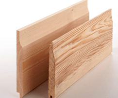 Loglap exterior cladding