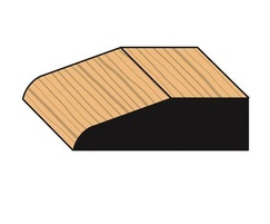 Chamfered decorative timber architraves