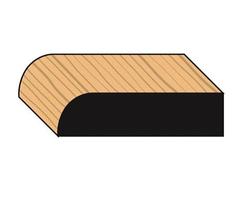 Large round decorative timber architraves