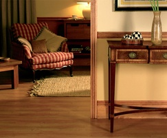 Skirting boards used in a domestic setting
