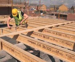 Finnframe® floor system being installed
