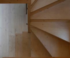 Timber interior creates warmth