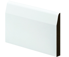 Chamfered and round MDF architrave