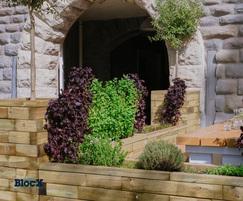 Wooden restaurant planters – Sanchez Brothers Bristo