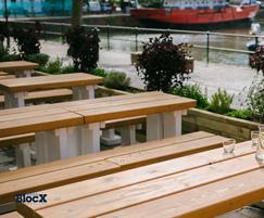 WoodBlocX restaurant planters, Sanchez Brothers Bristol