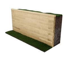 WoodBlocX™ retaining wall