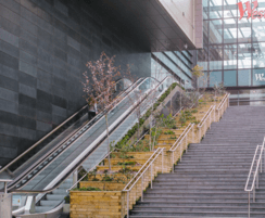 WoodBlocX: Street furniture and planting guaranteed for 50 years