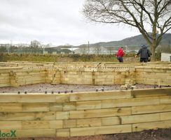 WoodblocX raised beds, RHS Malvern