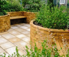 Bespoke WoodBlocX planters and seating