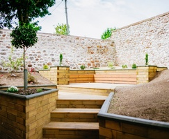 WoodBlocX™ Courtyard retaining walls