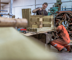 WoodBlocX bench construction
