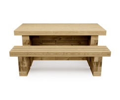 WoodBlocX picnic table and bench 3D visualisation