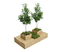Large Drumbeg tree planter with seating