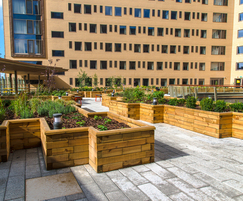 WoodblocX timber raised planter beds
