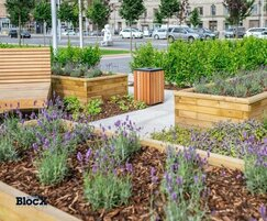 WoodblocX street furniture - Dundee waterfront