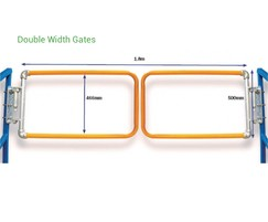 Kee Gate industrial self-closing double safety gate