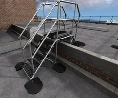 Step Over platform provides safe access